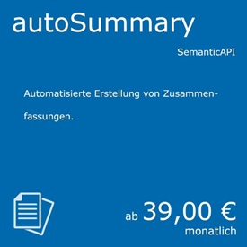 Symbolbild Auto-Summary - ein Natural Language Processing Service von currAPI