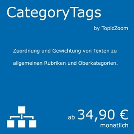 Symbolbild Category Tags - ein Natural Language Processing Service von currAPI