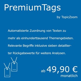 Premium Autotagging - ein Natural Language Processing Service von curryAPI und TopicZoom