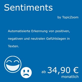 Sentiment-Analyse - ein Natural Language Processing Service von curryAPI und TopicZoom